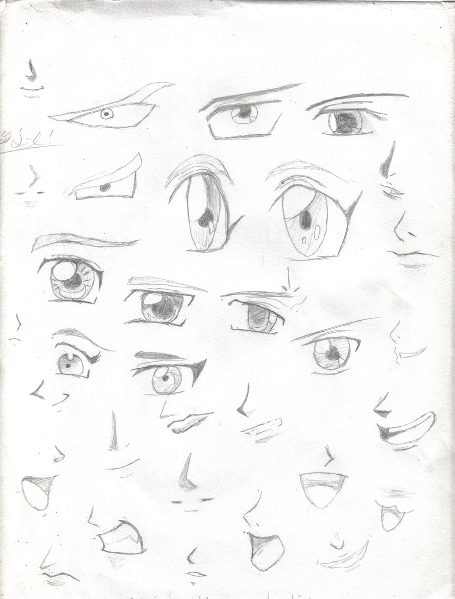 900x1186 Anime Manga Eyes Mouths Noses By Blood4undeadsoul 000