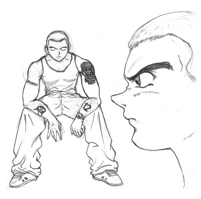 800x790 Eminem In Manga Style By Dannyb182