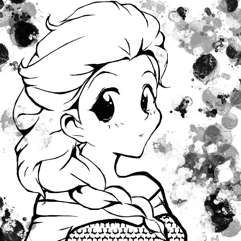 800x800 Elsa Manga Style By Poppetthepuppet101