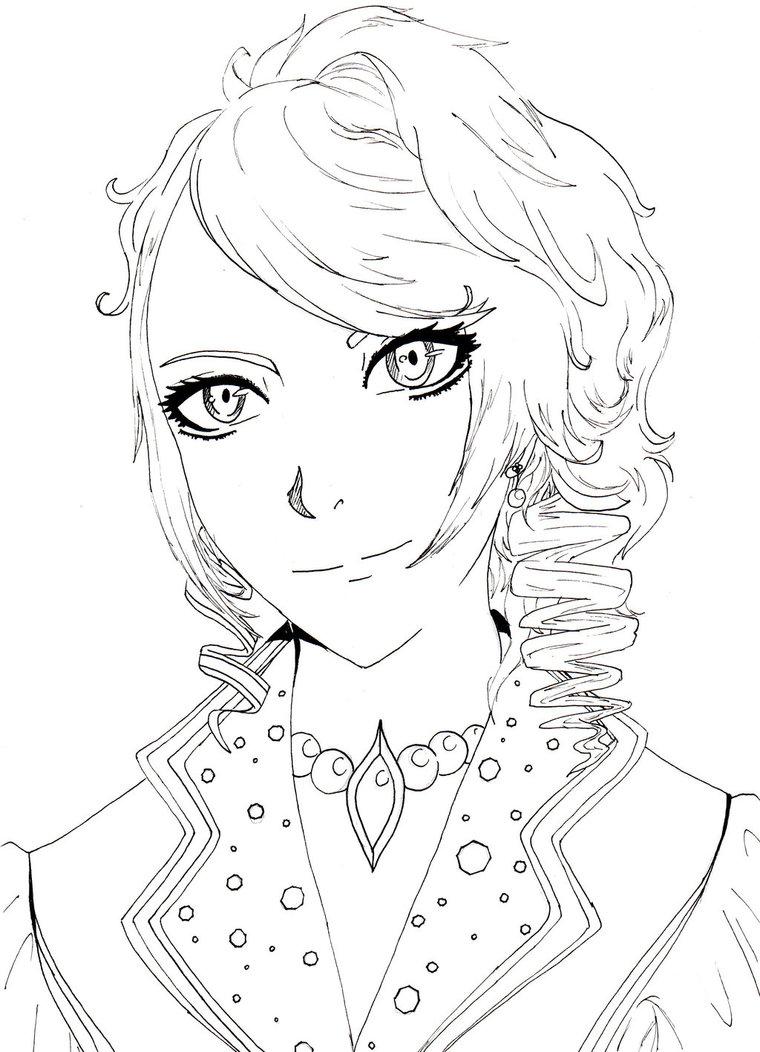 760x1052 Hizaki Line Drawing (Animemanga Style) By Viral Zone