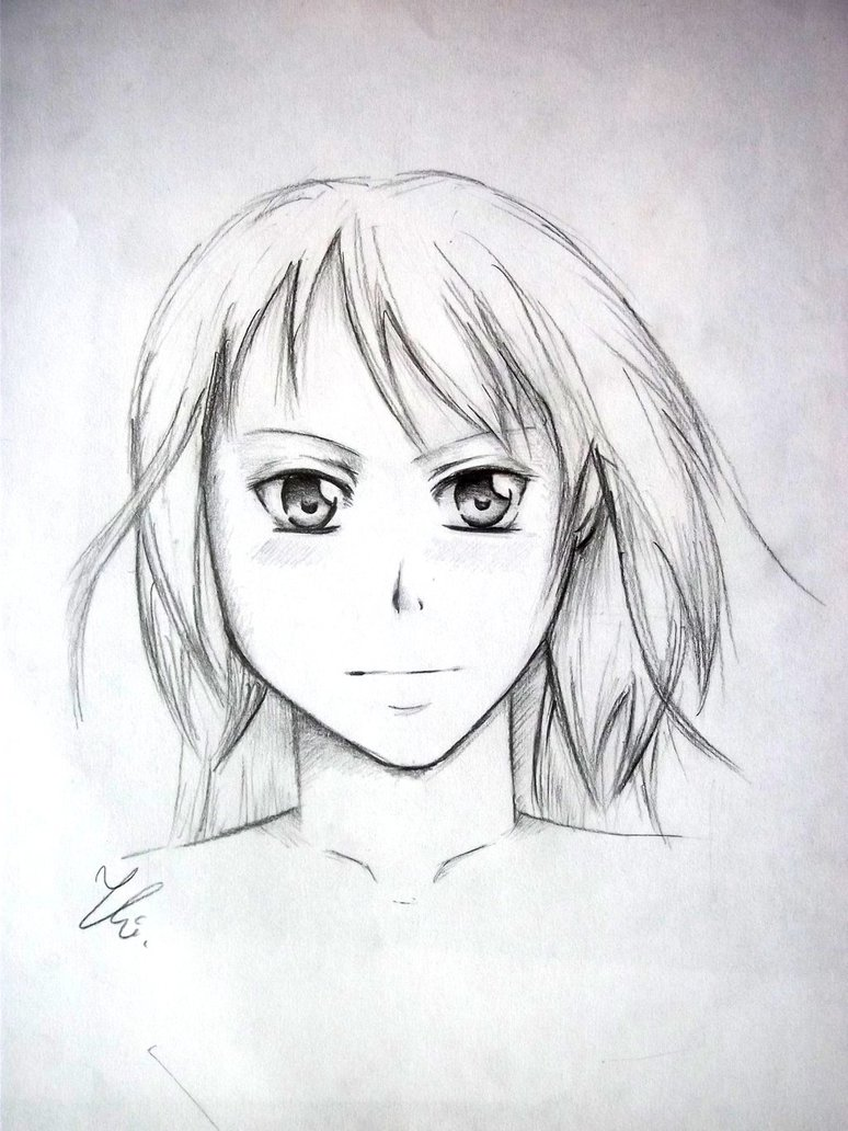774x1032 My First Attempt To Draw In Manga Style (2015) By Kasia Hasiva