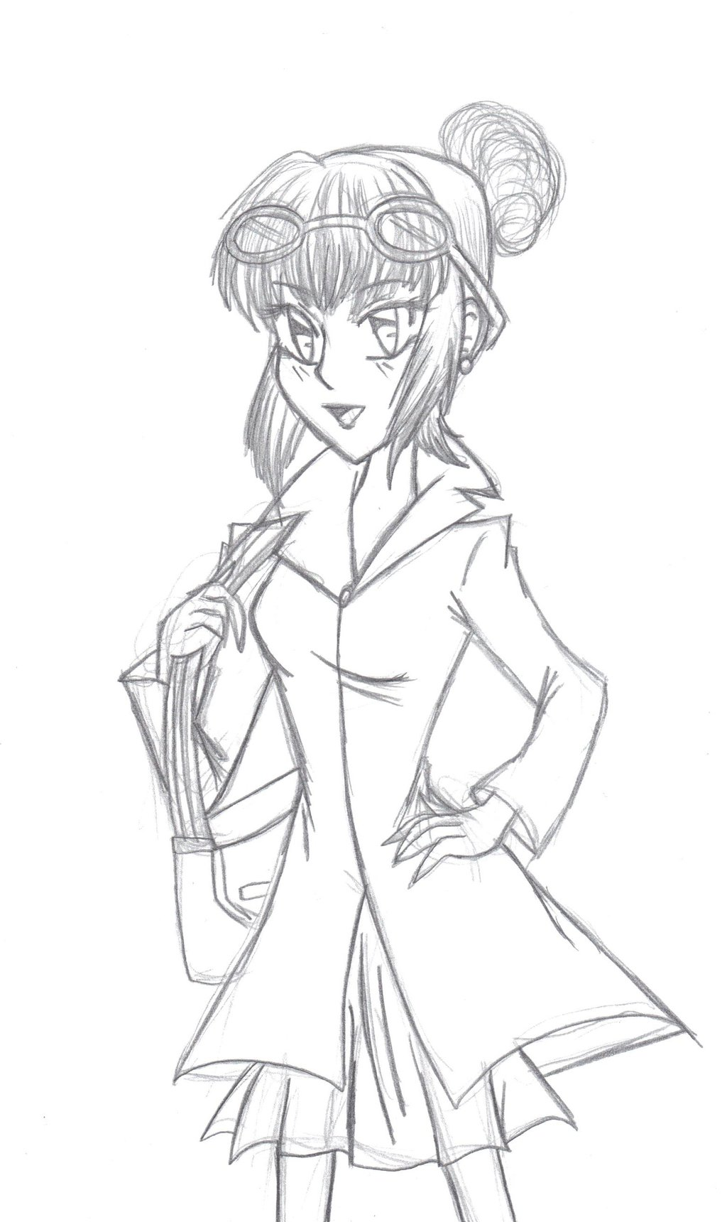 1024x1720 Lucy Wilde Manga Style Sketch By Fire Miracle