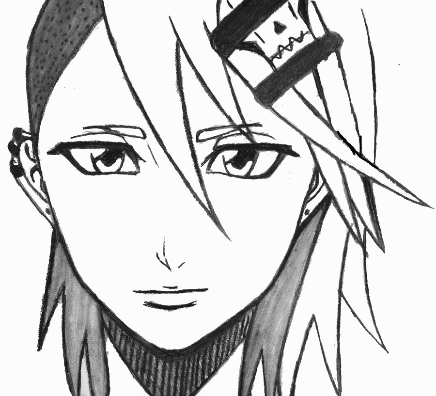 900x817 Manga Style Girl Drawing By Okami No Chi