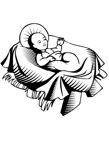 371x480 Jesus Born In A Manger Coloring Page Free Printable Coloring Pages