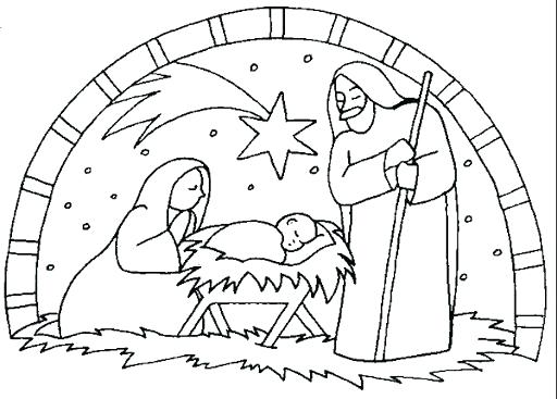 512x367 Manger Scene Coloring Page Download Nativity Scene Coloring Sheet