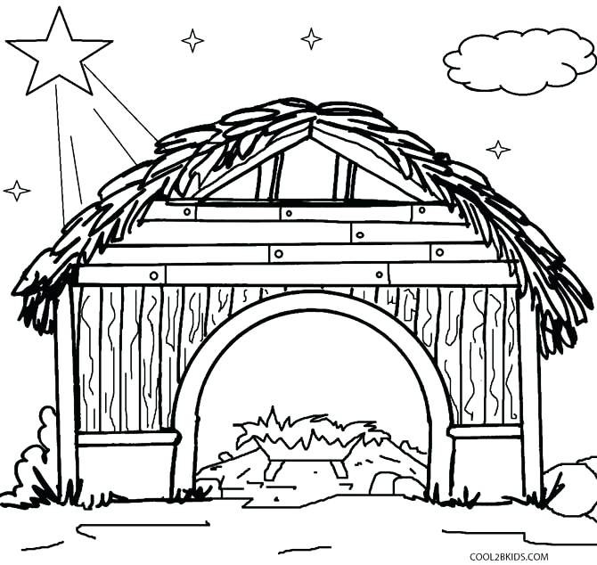 670x634 Printable Nativity Scene Coloring Pages X Printable Christmas