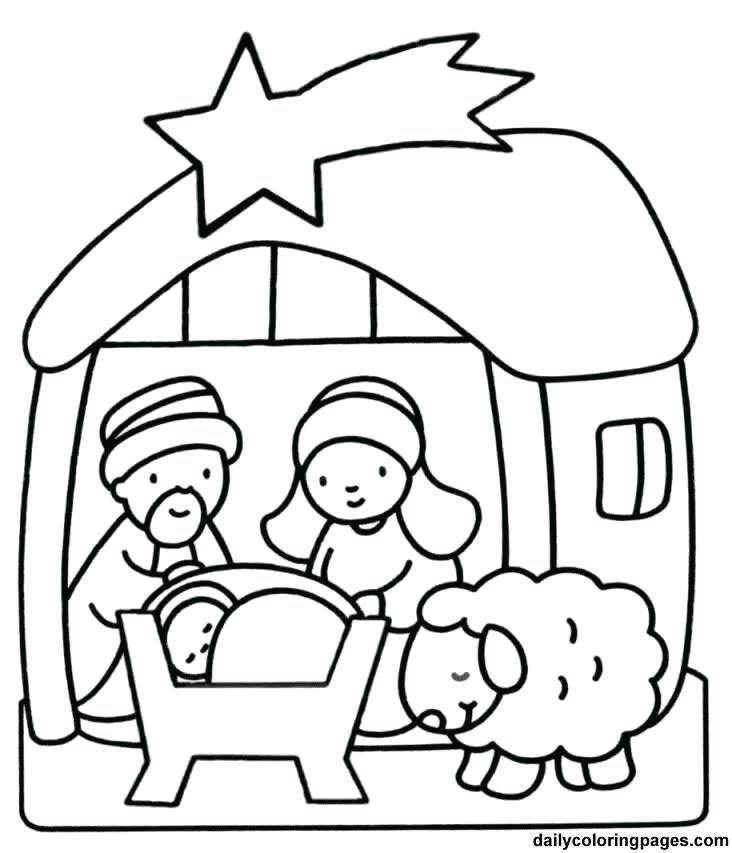 Manger Scene Drawing