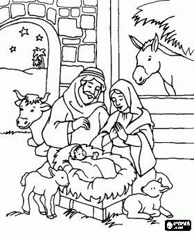 280x336 Nativity Scene Nativity Drawing Merry Christmas Amp Happy New Year