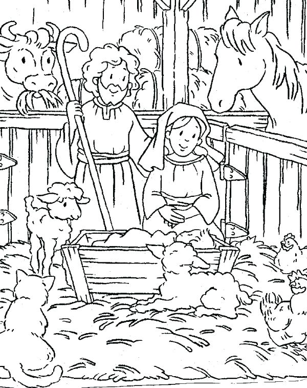 600x757 Christmas Scene Coloring Pages Coloring Pages Nativity Nativity