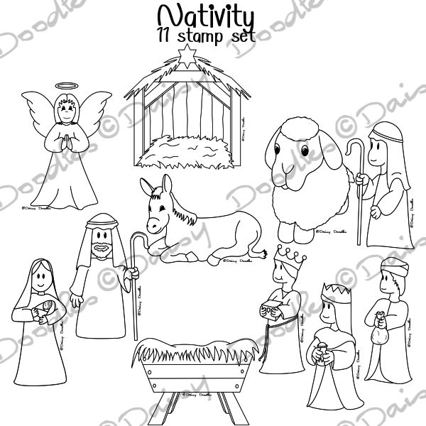 600x600 Free Printable Manger Scene Coloring Pages Tags Printable Manger