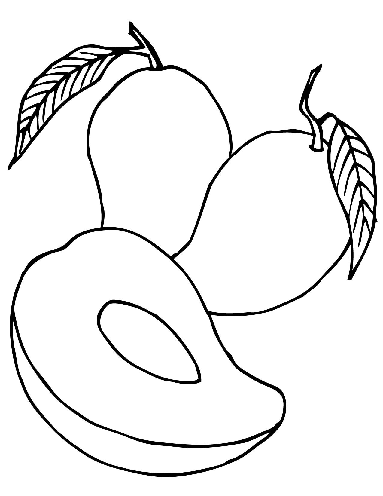 1275x1650 Mango Fruits Coloring Pages For Kids Freecolorngpagesco
