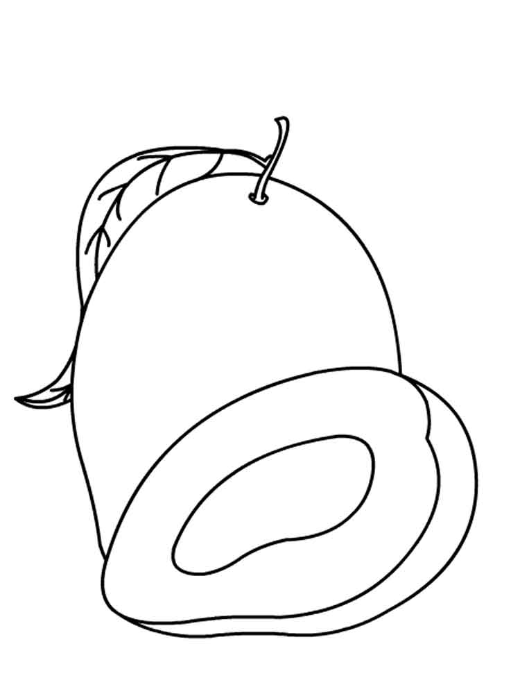 750x1000 Mango Coloring Pages. Download And Print Mango Coloring Pages.