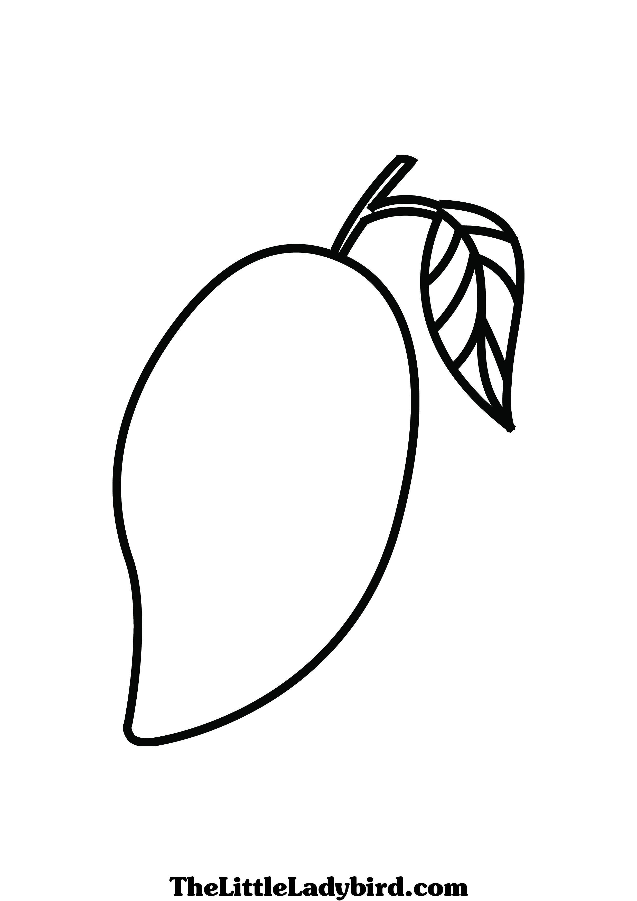 2480x3508 Mango Coloring Pages