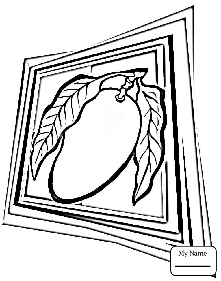 765x975 Coloring Pages For Kids Mango Mango Tree Fruits