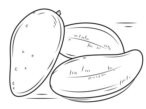480x358 Coloring Pages Mango, Printable For Kids Amp Adults, Free To Download