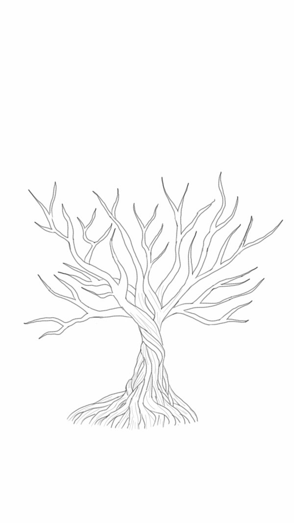 600x1067 Mangrove Tree Sketch Wip By Theartsyknight