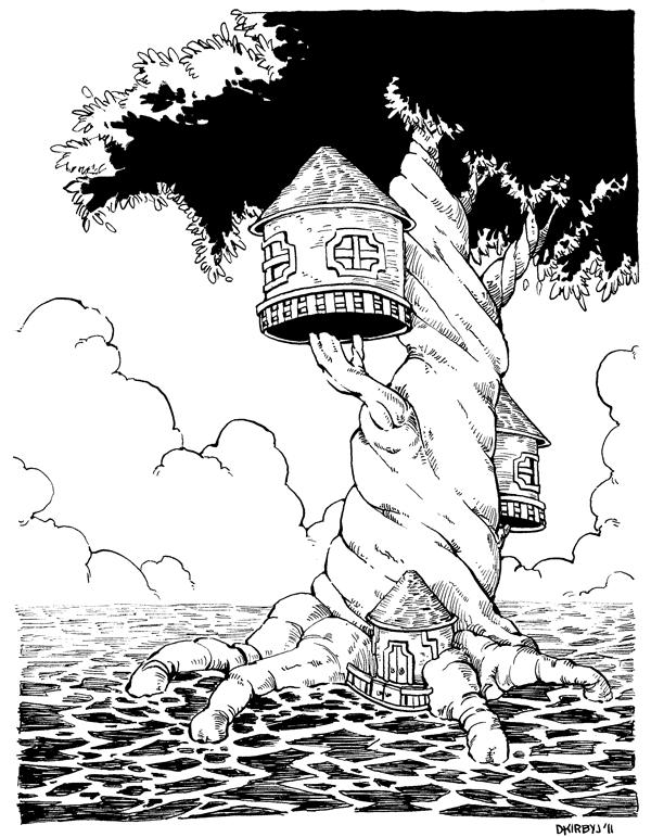 600x771 Mangrove Treehouse By Dkirbyj