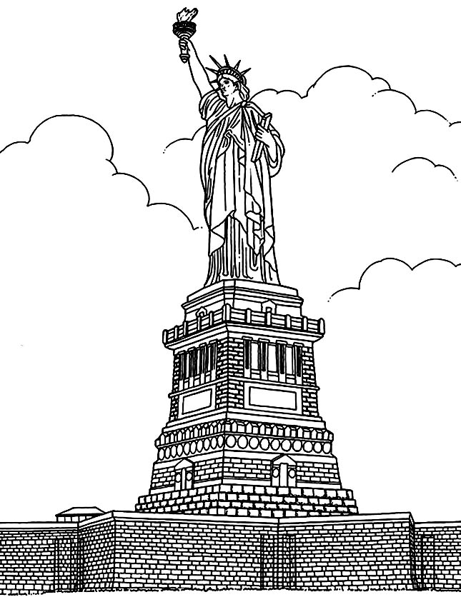 645x836 Free Coloring Page Coloring Adult New York Statue Liberte.