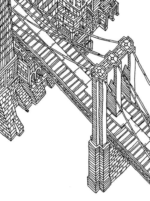 500x667 We Adore This Hand Drawn Illustration Of The Manhattan Bridge