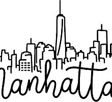 220x200 Manhattan Stickers Redbubble
