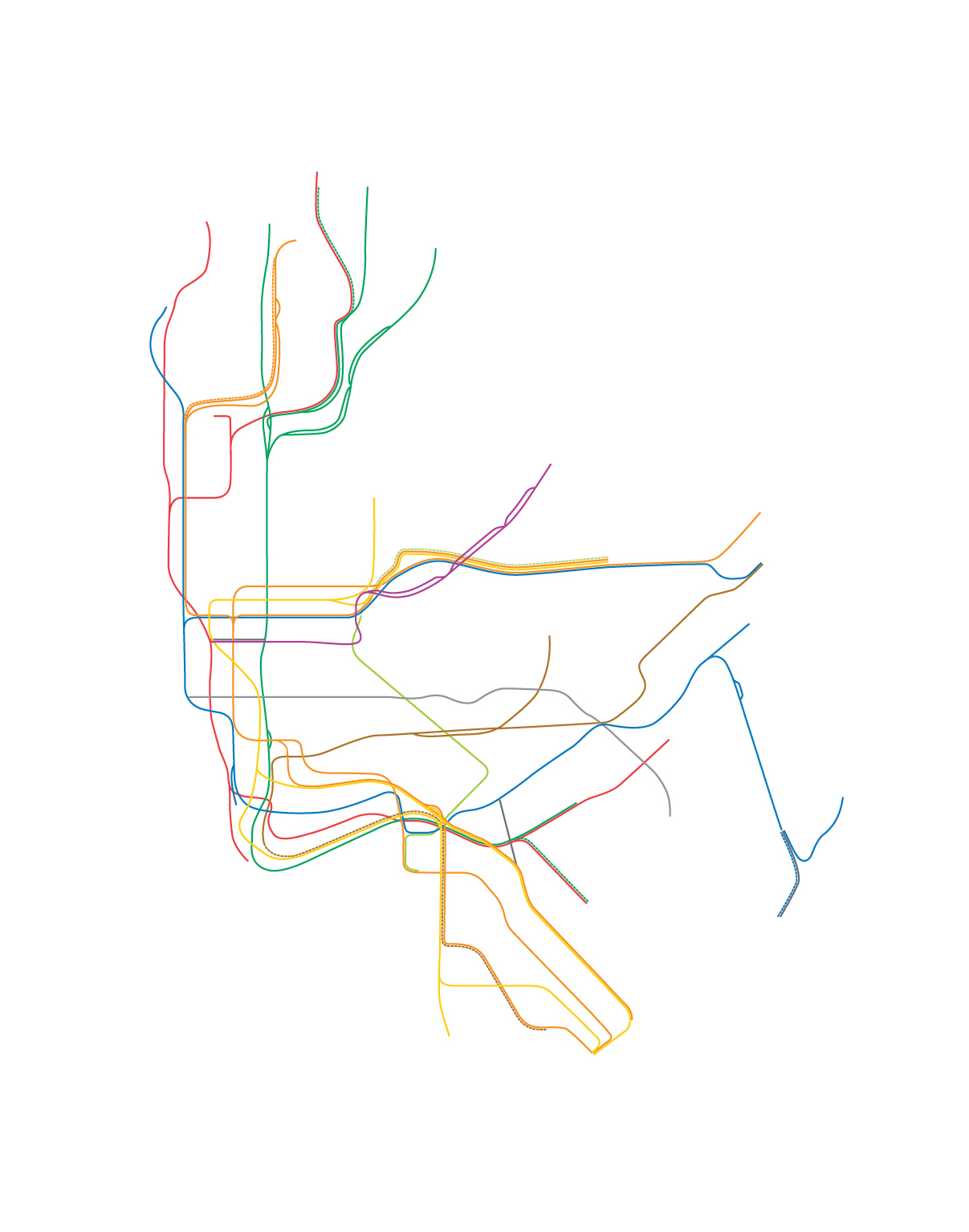 1207x1534 Nyc Subway Map