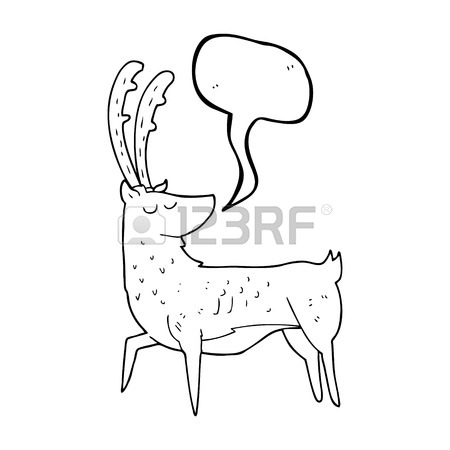 450x450 Freehand Drawn Cartoon Manly Stag Royalty Free Cliparts, Vectors