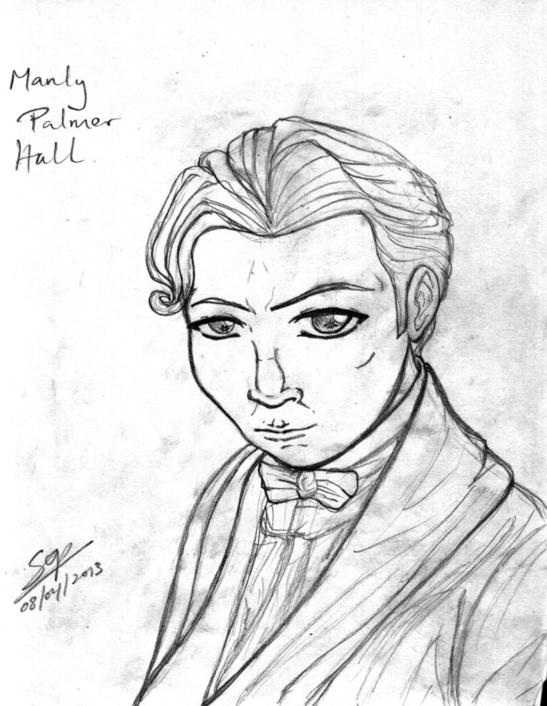 787x1015 Manly P Hall Tribute Sketch By Sop Sama