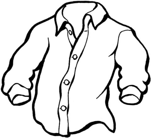 480x439 Manly Shirt Coloring Page Free Printable Coloring Pages