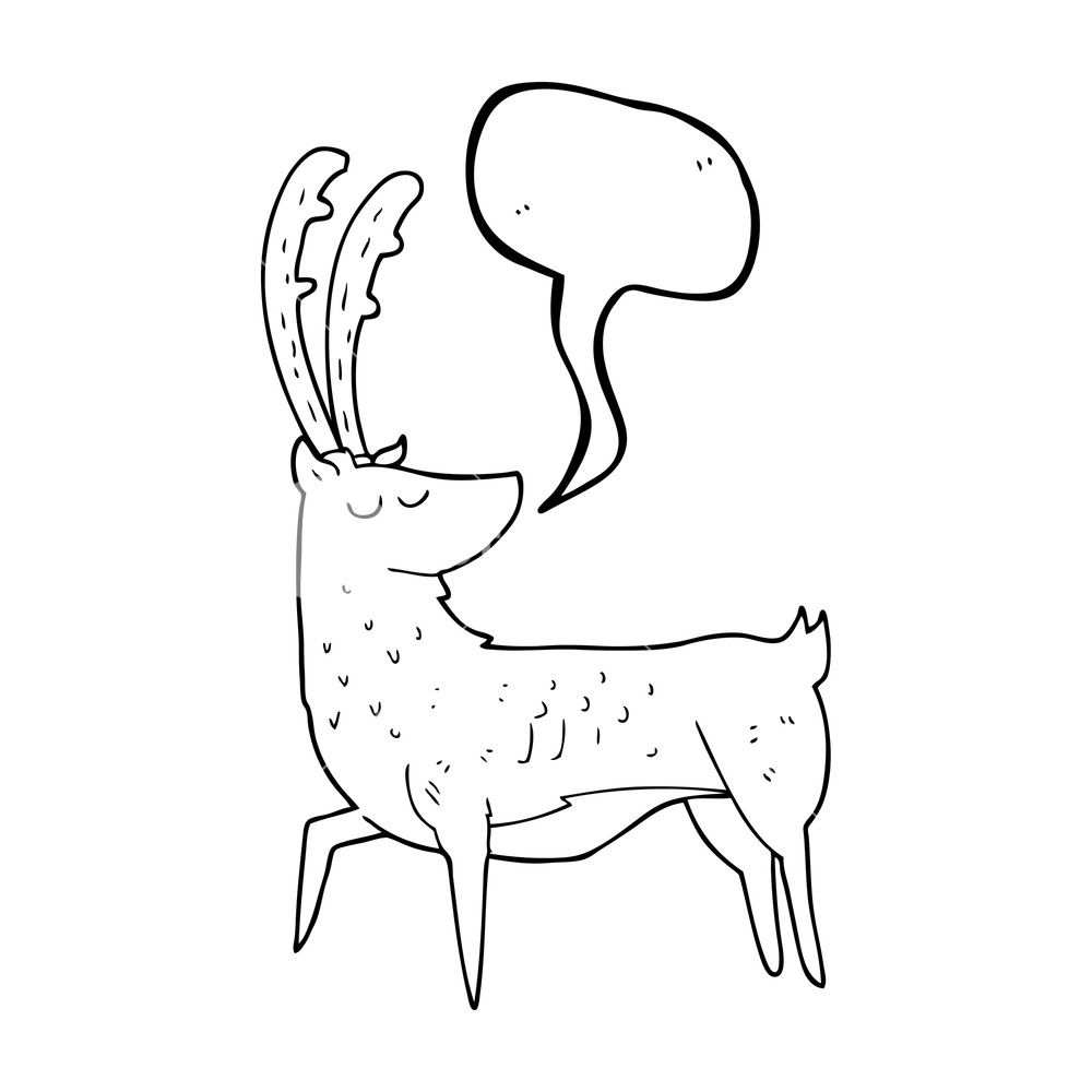 1000x1000 Freehand Drawn Speech Bubble Cartoon Manly Stag Royalty Free Stock