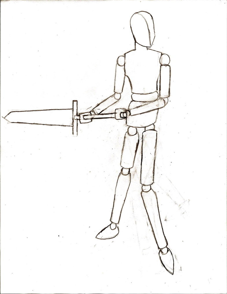 786x1017 Mannequin With Sword Reference By Nagasawaraijin