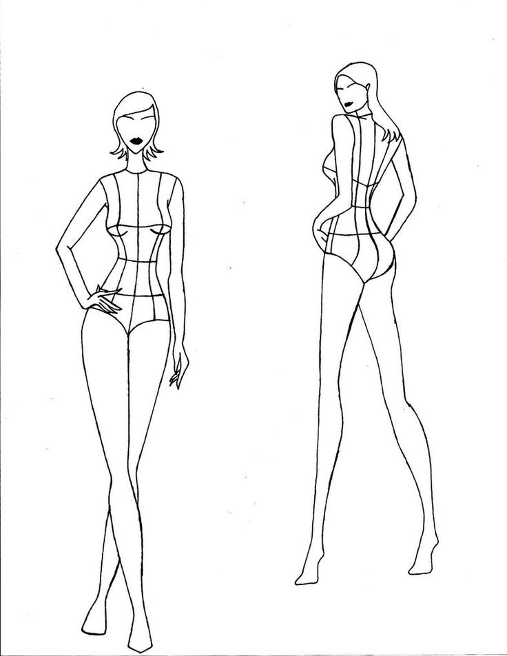 736x952 Best Female Croquis Ideas On Fashion Templates