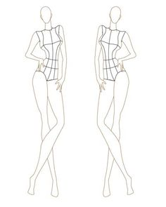236x295 Mannequin Template For Fashion Design