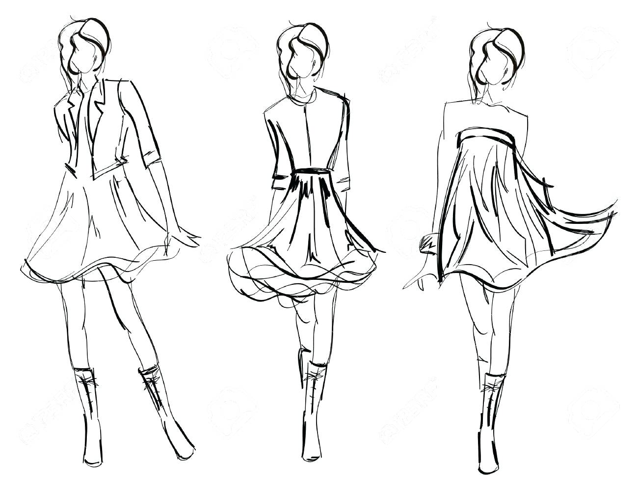 Mannequin Drawing For Fashion At Getdrawings Free For Personal