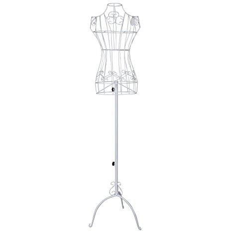 466x466 Songmics Vintage Lace Style Female Mannequin Torso Adjustable