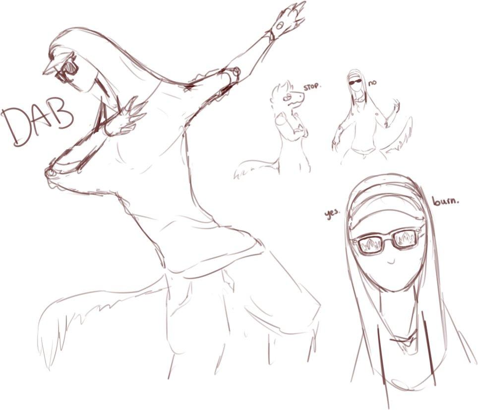 964x828 Mannequin Raptor Sketch Dump By Catpeets