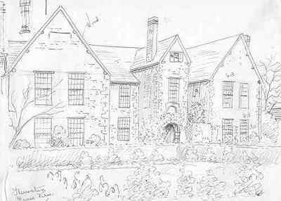 400x286 Ludlow, Steventon Manor Farm, Shropshire, Pencil Drawing