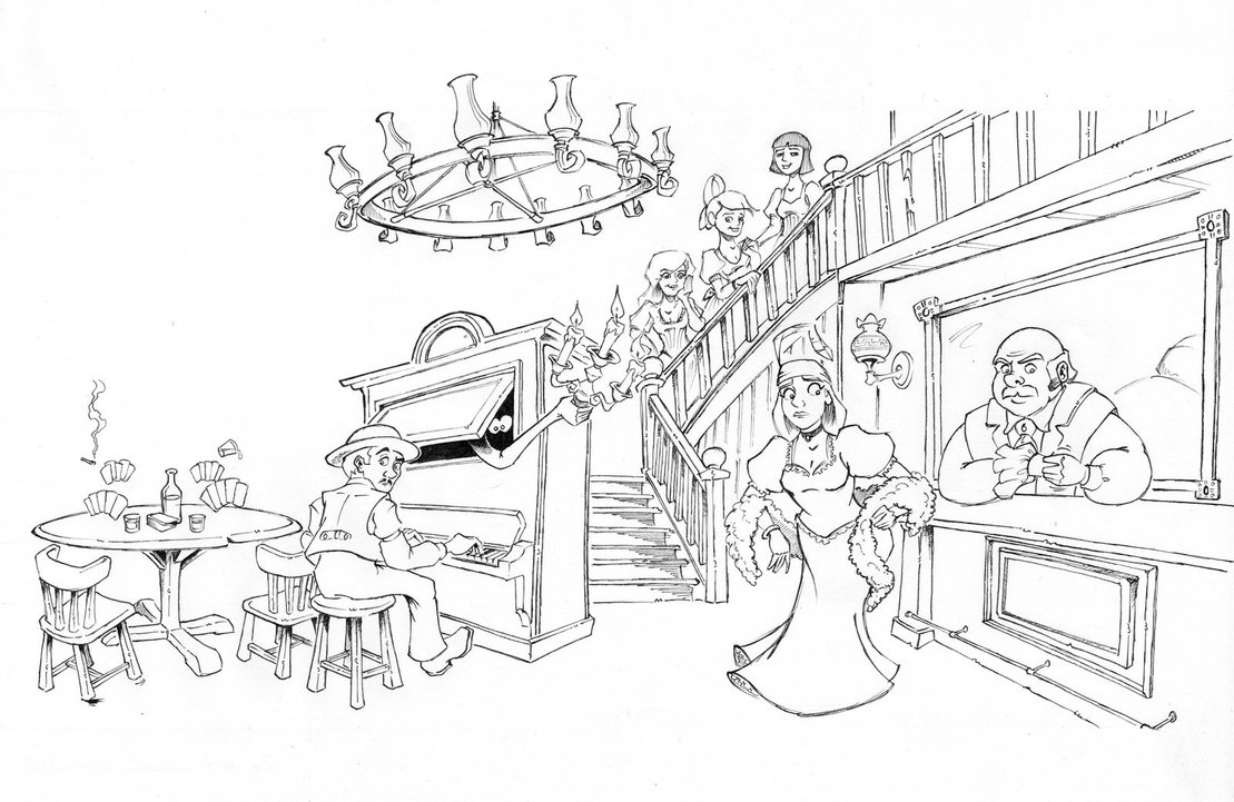 1109x721 Phantom Manor's Saloon By Kaloo86