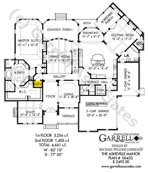 597x700 Asheville Manor House Plan House Plans By Garrell Associates, Inc.