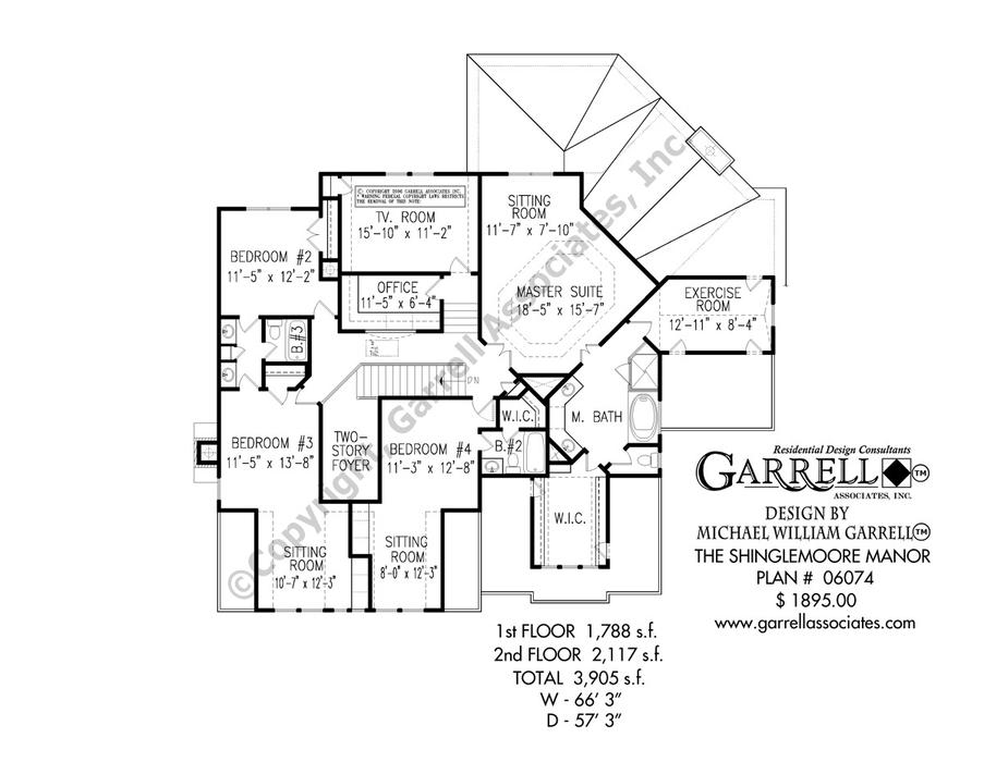903x700 Shinglemoore Manor House Plan House Plans By Garrell Associates