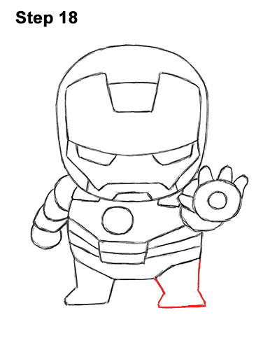 386x500 How To Draw Iron Man (Mini)