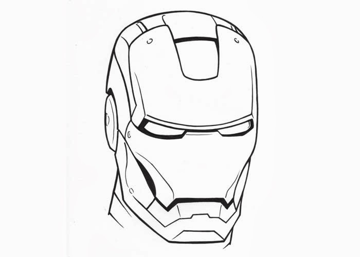 700x500 Iron Man Face Coloring Pages