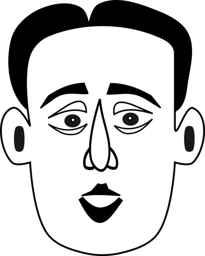 400x500 Man's Face Public Domain Vectors