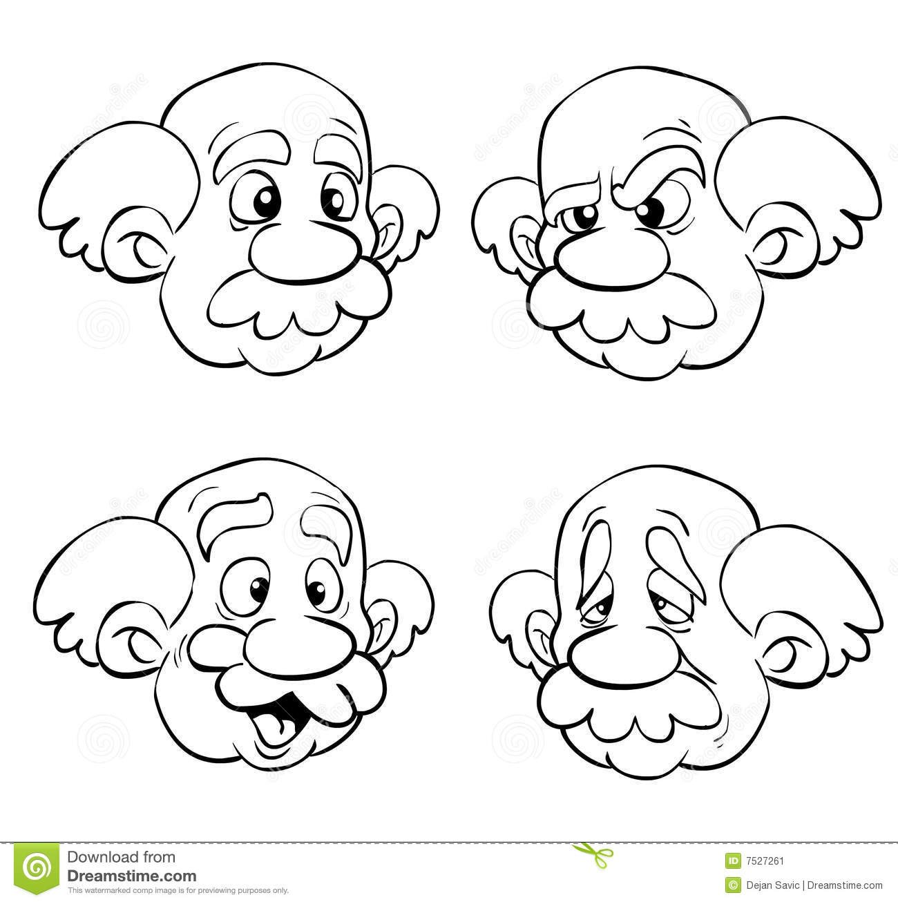 1300x1309 Old Man Face Clipart