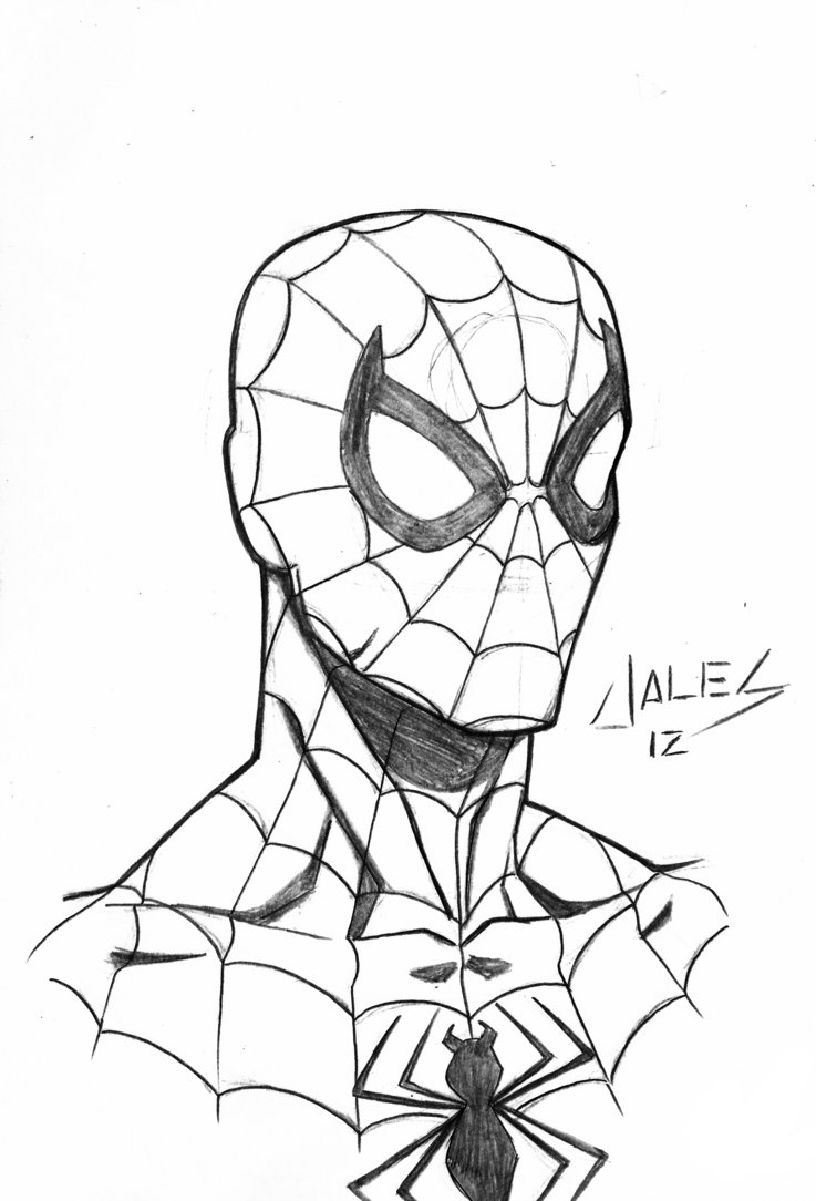 737x1084 Spider Man Face By Robertojales