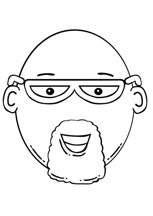531x750 Coloring Page Man's Face