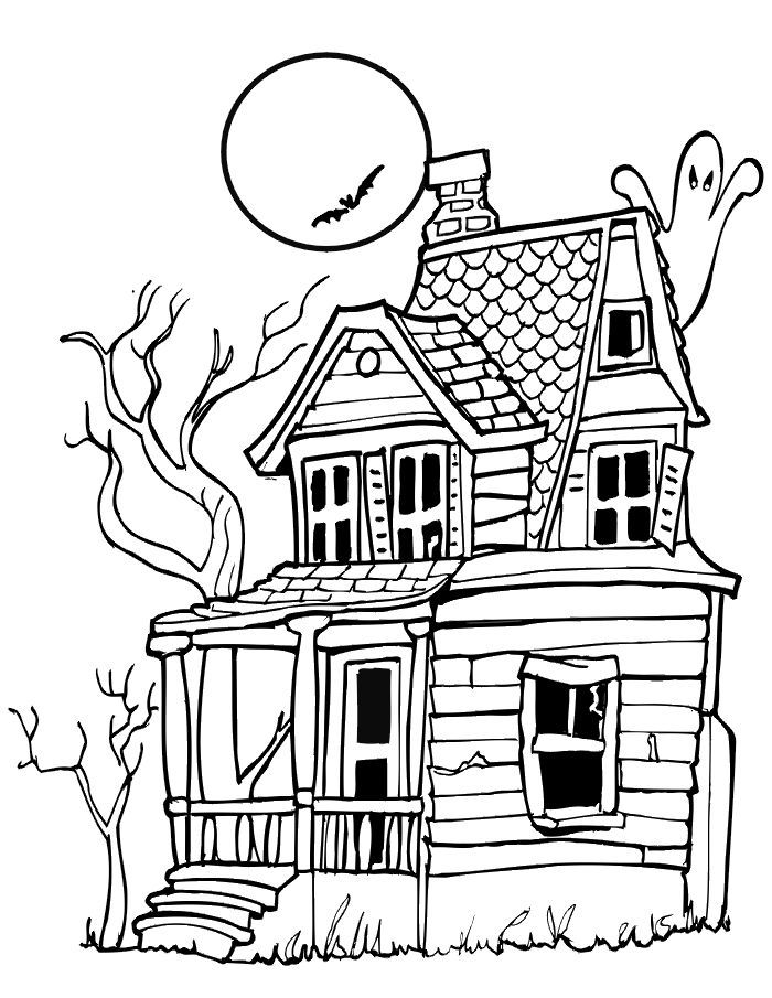 700x905 Haunted House Drawing Ideas
