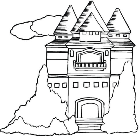 480x470 Mansion Coloring Page Free Printable Coloring Pages