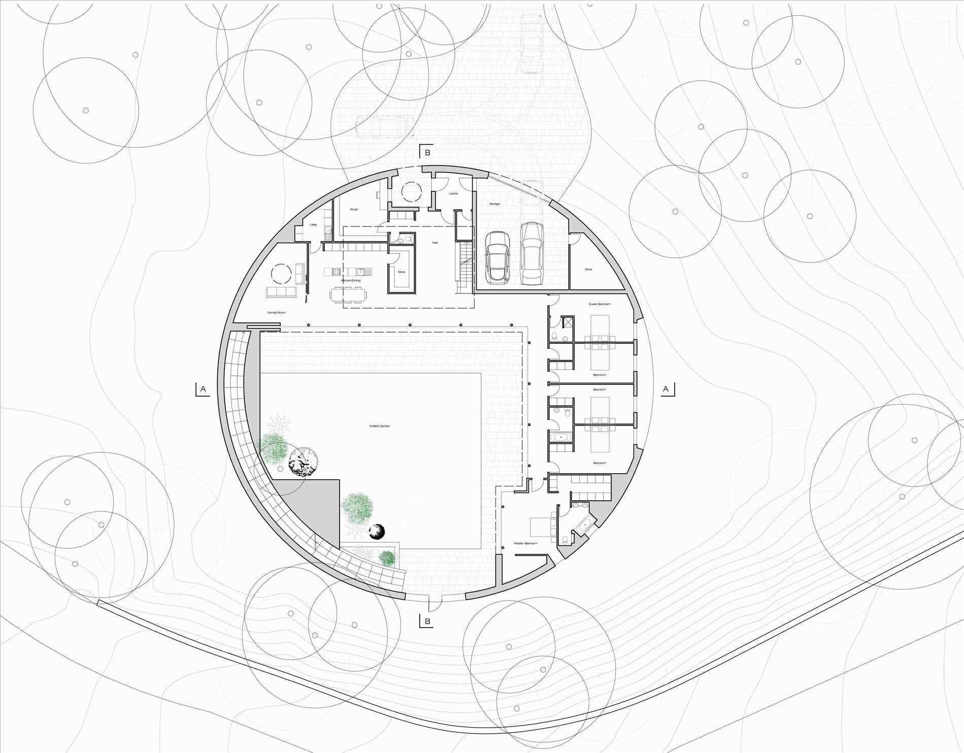 1899x1483 Underground House Drawing 2018