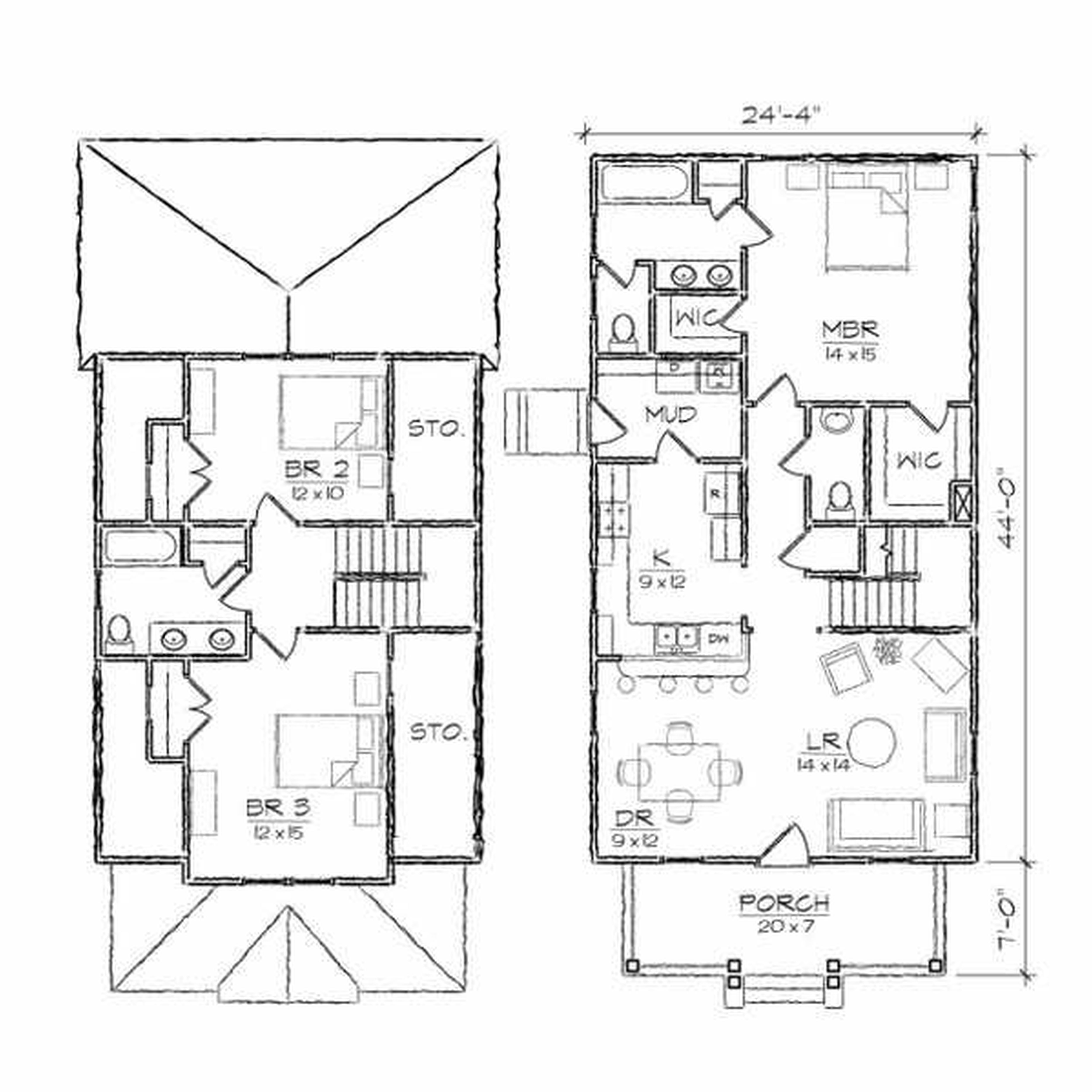 5000x5000 Architecture Design 1 Drawing A Modern House 2 Point Perspective