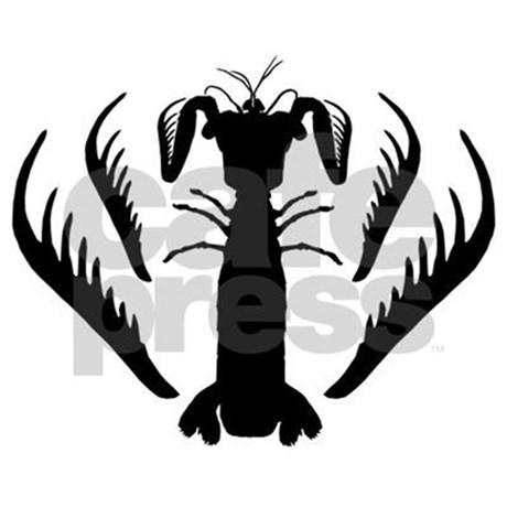 460x460 Mantis Shrimp, Spearer Silhouette Tile Coaster By Michaelbok